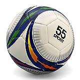 55 Sport Vortex Max Texturierter Pro Fußball-Trainingsball, Weiß/Mehrfarbig, Größe 5