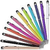 Eingabestift,PROKING 12 Stück Kapazitive Stylus Kugelschreiber 2 in 1 Stylus für Touch Screens Geräte, Stylus Stifte für iPad,iPhone,Kindle,Samsung,HTC,Tablets Touchscreens(12 Color)