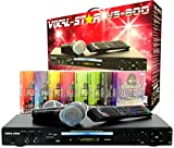 Vocal-Star Mega Deal VS-800 HDMI CDG Karaoke-Maschine mit Bluetooth 1500 Songs und 2 kabelgebundenen Mikrofonen