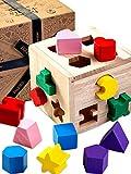 Jaques von London steckwürfel holz . Perfekt spielzeug ab 1 2 3 jahr Bunte Formen und liebevoll gefertigte Schachtel toll holzspielzeug ab 1 2 3 jahr seit 1795