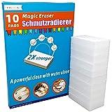 Schmutzradierer wand magic eraser schmutzradierer schwamm 10 Radierschwamm,2X Plus Stärke reinigung einfach mit wasser,Entfernen problemlos hartnäckigen Schmutz und Flecken