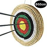 Namotu Zielscheibe Bogenschießen Stroh Strohzielscheibe Outdoor-shooterDurchmesser 50 cm Festes Stroh rundes Ziel, Klare und offensichtliche Zielscheibe Design für im Freienpraxis und Schießenpfeil