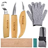 ETEPON Schnitzmesser, Wood Carving Tools Set Knifes for Spoon Carving ET014 (Mehrfarbig)