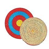 hifuture Pfeil Zielscheibe Bogenschießsets Runde Strohscheibe Coiled Archery Straw Target Zielscheibe Bogenschießen Stroh Bogen Ziel Outdoor Sports Traditioneller Bogenschießen Zubehör