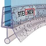 STEIGNER Duschdichtung, 100cm, Glasstärke 6/7/ 8 mm, Vorgebogene PVC Ersatzdichtung für Runddusche, UK08