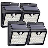 Trswyop Solarlampen für Außen, 4 Stück 150 LED Solar Bewegungsmelder Aussen 2000mAh Solarleuchten für Außen Solar Aussenleuchte mit Bewegungsmelder Solar Wasserdichte Wandleuchte für Garten