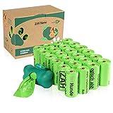 ZAH Hundekotbeutel 360er Pack, kompostierbar und biologisch abbaubar, auslaufsicher, große und extra Dicke Kotbeutel für Hunde, mit Beutelspender