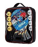 JOOLA Tischtennis-Set Team School Bestehend aus 4 Tischtennisschläger + 8 Tischtennisbälle