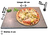 Splittprofi Brotbackstein/Pizzastein aus Naturstein 40 cm x 30 cm x 2 cm Made in Germany Grill o Backofen