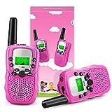Fansteck 2er Walkie Talkies für Kinder, Funkgeräte Set Spielzeug für 3,4,5,6,7,8,9 Jahre, 8 Kanäle 3KM Reichweite mit Seile und Taschenlampe, geeignet für Zelten, Indoor