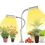 KagoLing LED Pflanzenlampe 50W 100LEDS Wachsen Pflanzenlicht Vollspektrum Grow Lampe Pflanzenleuchte Verstellbarer Schwanenhals 3 Arten von Modus für Blumen Früchte Samen Sukkulenten