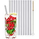 stråwline EINFÜHRUNGSANGEBOT Glas-Strohhalme 20 cm, wiederverwertbar + Reinigungsbürste (vegan) aus Agave - ideal für Cocktails, Longdrinks & Säfte