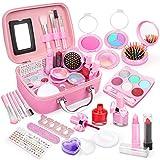Dreamon Kinderschminke mädchen, Waschbar Make up Spielzeug für Mädchen Kinder Nagellacke mit Koffer für Mädchen