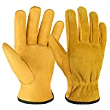 OZERO Gartenhandschuhe, Arbeithandschuhe mit Elastik Handgelenk für Damen und Herren