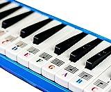Klavieraufkleber für 32/37 Tasten Melodica, transparent und ablösbar, hergestellt in den USA