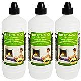 Farmlight 3 Liter Bio-Ethanol 95% - 96,6% Premium für Ethanolkamine Gelkamine Bambusfackeln Rückstands lose Verbrennung aus nachwachsenden Rohstoffen