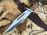 Perkin Knives Jagdmesser mit Lederscheide Jagd Rambo Messer