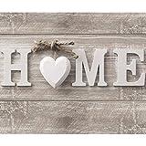 decomonkey Fototapete Home Haus 400x280 cm XXL Design Tapete Fototapeten Vlies Tapeten Vliestapete Wandtapete moderne Wand Schlafzimmer Wohnzimmer Holz Herz Vintage