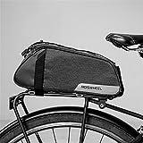 Roswheel Fahrradtasche Fahrrad Satteltasche Gepäcktasche Gepäckträger Tasche Rucksack Seitentasche 7L Schultertaschen Reflektierender