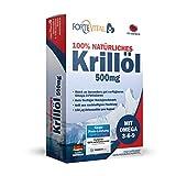ForteVital® Krillöl 500 mg - enthalten Omega 3 Fettsäuren - EPA & DHA - hoher Astaxanthingehalt - 60 Kapseln - Hergestellt in Deutschland