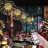 OOTOO 4 Köpfe LED Lichterkette Hängend Feuerwerk Licht Dekorations Kupferdraht 120 LED 8 Modi IP65 Wasserdicht Innen und Außen für Weihnachten Hochzeit Party Zuhause