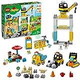 LEGO 10933 DUPLO Große Baustelle mit Licht und Ton Spielfahrzeuge mit Licht und Ton und Push und Go Motor für Kinder im Alter von 2–5 Jahren