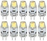 PRIDE S G4LED Lampen-Korn Pin Unterstützt Dimmbare Kristall-Glühlampe 12V 1W Brennwertkessel (Size : Warm White)