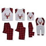 SANMIO Weihnachten Familie Outfit Set Matching Lange Ärmel Bluse + Plaid Lange Hosen Pyjama Set Xmas