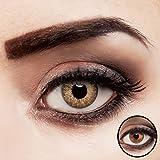 aricona Kontaktlinsen farbig braun ohne Stärke Jahreslinsen stark deckend 2 Stück