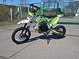 125cc Dirtbike Yokai 14'/12' 4-Gang Kick-Start Crossbike Pocketbike Pitbike Bike ATV (Grün)