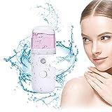 Gesichtsdampfer, Facial Steamer, Luftbefeuchter Gesicht, Nano steamer gesicht, Handlicher Gesichtssauna für Hautpflege, Feuchtigkeitsspendende Hydratation, USB Dampf Gesicht für Frauen und Männer