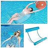 QHYK Wasserhängematte,Aufblasbare Wasser Hängematte Ultrabequeme Luftmatratze Schwimmende,Luftmatratze mit Netz Sonnenliege Schwimmmatratze Matratze