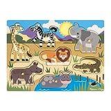 Melissa & Doug Steckpuzzle aus Holz - Safaritiere (7 Teile)