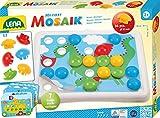 Lena 35630 - Bastelset Mein erstes Steck-Mosaik Set mit 36 Steckern 32 mm und Steckplatte mit abgerundeten Ecken
