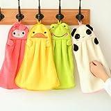 Uctop Store Mikrofaser-Handtücher für Kinder, in niedlicher Tierform, saugfähig, hübsche Handtücher für Küche und Bad, 4er-Set