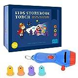 Pueri Kinder Projektor Taschenlampe Projektor Spielzeug Kinder Geschichte Taschenlampe Spielzeug mit 4 Märchen für Kinder Kleinkind