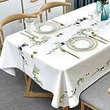 Plenmor PVC Tischdecke Plastik Rechteckig für Küche Esstisch Kunststoff Wischtuchreinigung Tischdecke für Indoor Outdoor (137 x 200 cm, Oliven)