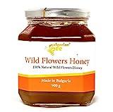 900 g Roher Wildblumen & Kräuter Blütenbienen Honig - Unbeheizter, nicht pasteurisierter