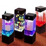 Oyalaiy Oyotric Quallen-Lampe, elektrisch, künstliches Mini-Aquarium, mit Farbwechsel, Stimmungslampe für Zuhause, als Dekoration, magische Lampe als Geschenk B