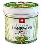 SwissMedicus Hanfsalbe forte, 30% Hanf-Aktivgel, für problematische Haut geeignet, bei Akne, Ekzem und Schuppenflechte, Naturkosmetik Hanf-Creme 100% Vegan Hanfsalbe,125 ml