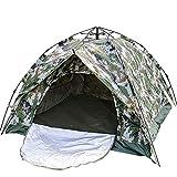 Rahmen Zelte 3-4 Personen Double Deck Doppeltür Dual-Use-Automatik Tarnzelt verdickte Zelt Camping-Zelt Ideal für Camping Wandern Außen (Color : Camouflage, Size : 3-4 Persons)