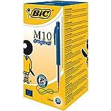 BIC Druckkugelschreiber M10 (0,32 mm) Schachtel à 50 Stück, blau