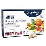 Immun+ Multivitamin Hochdosiert - 2 Monate Immun-Kur - Vitamin Komplex hoch Bioaktiv - Alle wertvollen Vitamine A-Z und Mineralien - 60 Tabletten - Laborgeprüft hergestellt in Deutschland