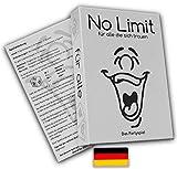 No limit für alle die sich trauen - Partyspiel - Trinkspiel - Gesellschaftsspiel - Saufspiel - Kartenspiel - ähnlich wie Tat, Wahrheit oder Pflicht - lustiges Spiel - Deutsche Version