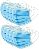 10 PCS Einwegmaske, Atemschutzmasken, Disposable Surgical Masks Gesichtsmaske mit Ohrschlaufen,Cup Masken,Atmungsaktive Ohrmuschel-Gesichtsmaske,3 Schichten Masken (Blau, 10/20/50/100/200 Stück)