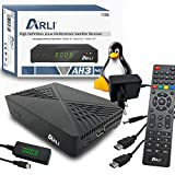 ARLI AH3 HD S2 IP Receiver Linux Sat TV Mini Box + Kanalliste Astra Hotbird Türksat Full HD LAN USB Sat DVB-S2 Receiver IPTV YouTube Xtream Stalker IR Sensor Display Web Weblet