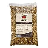 Seedzbox Ultimate Deluxe Wellensittichfutter Mix aus Samen/Nüssen - natürl, gesunde Leckereien für Kanarienvögel - Rothirse, Kanariensaat und Niger-Samen - reich an Proteinen u. Ballaststoffen - 1kg
