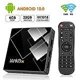 Android 10.0 TV Box 4G + 32G, NinkBox TV Box N1 Plus RK3318 Quad-Core 64bit Cortex-A53, unterstützt Bluetooth 4.0/WLAN 2.4G/5.0G /4K HD/ USB 3.0 Smart tv Box Android Set-top-Box