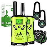 Monte Stivo® Agent | Walkie-Talkie für Kinder mit Kompass & Badge | Tolles Geschenk-Set Outdoor Spielzeug für Junge Mädchen