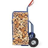 BITUXX® Brennholz Sackkarre Kaminholzkarre Brennholzkarre Holzkarren Holztransporthilfe mit Luftbereifung bis 100kg